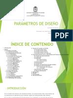 Parámetros de diseño de un sistema de acueducto
