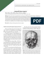 History of Paranasal sinus surgery