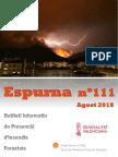 Butlletí informatiu de prevenció d'incendis forestals Espurna agost 2018