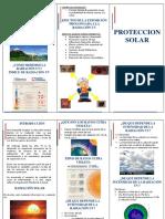 Triptico Proteccion Solar