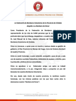 La carta de los Bomberos Voluntarios a José Manuel de la Sota