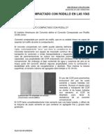 Concreto Compactado Con Rodillo en Las Vías Terrestres