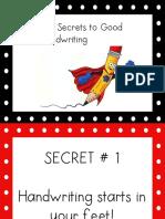 secrets to good handwriting