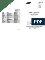 Samsung LE32S86BC Manual