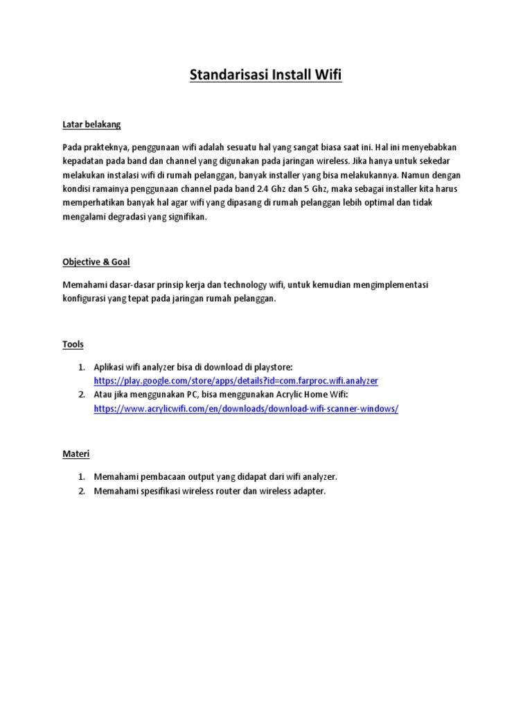 Standarisasi Install Wifi Router - Best Practice!