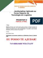 Anhanguera Prointer Parcial e Final Logistica 4 Semestre