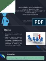 Necesidades percibidas por las mujeres respecto a su maternidad. Estudio cualitativo para el rediseño de la educación maternal -RESUMEN-(1)