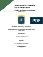 Diseño de Cunetas Alcantarillas Puentes Informe