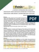 ARTIGO - FRANCIS BACON - TEORIA, MÉTODO E CONTRIBUIÇÕES PARA A EDUCAÇÃO.pdf