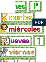 Calendario Movil Animalitos