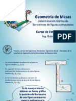 Determinación Gráfica de Baricentros de figuras compuestas