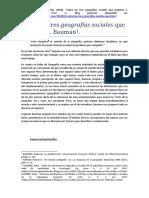 Sobre Las Tres Geografías Sociales Que Propone Z. Bauman.