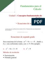 1.1 Ecuaciones de Segundo Grado