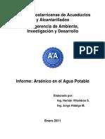 Informe Arsénico en El Agua Potable