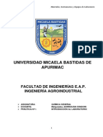 Quimica General - Informe introducción al laboratorio