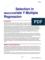 Subset Selection in Multivariate Y Multiple Regression
