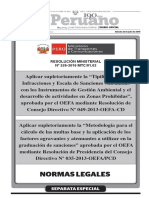 Minera 3 Res 043 2015 Oefa CD Exposicionmotivos Explotacion