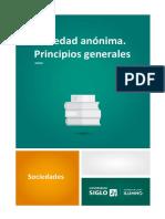 Sociedad Anónima. Principios Generales