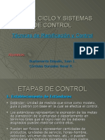 Etapas Ciclo y Sistemas de Control