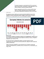 El Consumo Interno de Cemento Alcanzó Un Crecimiento de 3