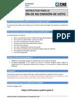 Instructivo Para La Justificacion de La No Emision Del Voto