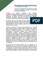 2.- La Evolución Hacia La Tecnocracia Aristocrática Al Poder