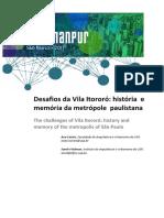 Feldman Castro_desafios Da Vila Itororo_enanpur_2017