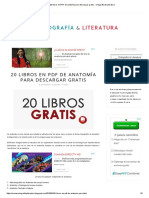 20 Libros en PDF de Anatomía Para Descargar Gratis - Ortografía & Literatura