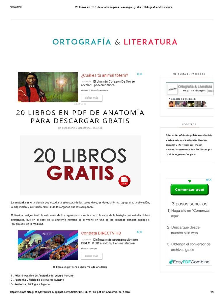 20 Libros en PDF de Anatomía Para Descargar Gratis - Ortografía ...