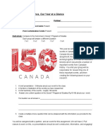 assignment - canadian history timeline