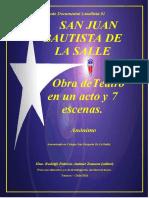 Anónimo - San Juan Bautista de La Salle- Obra de Teatro en Un Acto y Siete Escenas