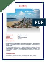 Ecuador Monografia