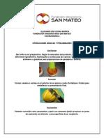 Glosario Tecnico en Cocina Basica 2018-2