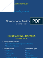 Occupational Environment at Formal Sector