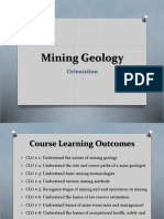 Lecture 1 - Mining Geology