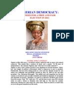 Nigerian Democracy - Okwy Ifejiofor
