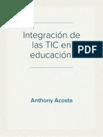 Integración de las TIC en educación.