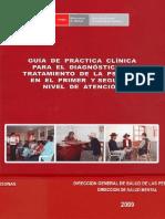 Guía de Práctica Clínica para el Diagnóstico y Tratamiento de la psicosis en el primer y segundo nivel de atención [2009] (RM N° 750-2008)