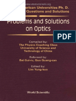 Problems and Solutions on Optics - Bai Gui-ru, Guo Guang-can, Lim Yung-kuo - 1st Edition
