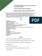 NOM-090-SSA1-1994 Para La Organizacion y Funcionamiento de Residencias Medicas