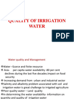 Quality of Irrigation Water