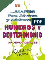 Desafios Para Jóvenes y Adolescentes Números y Deuteronomiob