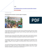 Promoting UN Convention to Protect Rights of Migrants