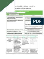 Formato Para Práctica de Evaluación Entre Pares ISABELOROZCO