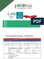 Jadwal Wcet 2018 Kuala Lumpur