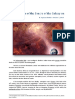 The Influence of the Centre of the Galaxy on Planet Earth