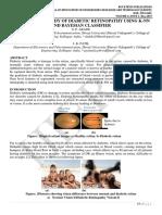 COMPARATIVE STUDY OF DIABETIC RETINOPATHY USING K-NN AND BAYESIAN CLASSIFIER
