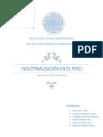 Industrializacion en El Perú