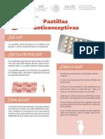 Pastillas Anticonceptivas Ficha Informativa