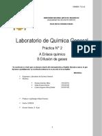Laboratorio de Quimica Gases y Enlace Quimico